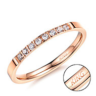 Rose gold diamond ring new titanium titanium steel jewelry zircon micro Diamond Ladies Ring