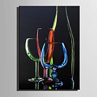 Handgemalte Stillleben Vertikal,Abstrakt Ein Panel Leinwand Hang-Ölgemälde For Haus Dekoration