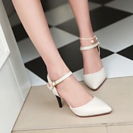 Women's Shoes PU Summer Comfort Heels Stiletto Heel Pointed Toe With For Casual Black Beige Light Pink