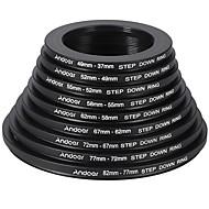 andoer 18pcs 37-49-52-55-58-62-67-72-77-82mm step up / step down filtru obiectiv filtru metal inel