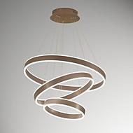 remoter עמעום הוביל תליון אור אלומיניום קפה זהב מוברש 110-240v לסלון תאורה מודרנית