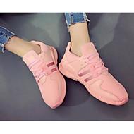 Feminino Sapatos Lona Primavera Verão Conforto Tênis Para Casual Branco Preto Rosa claro