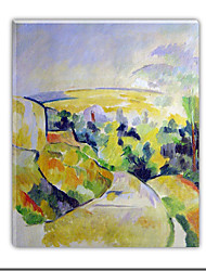pintados a mano óleo de Paul Cézanne con el marco de estirado
