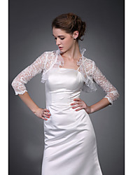 3/4-Length Sleeves Sleeves Tulle  Lace Bridal Jacket / Wedding Wrap (WSM0409)