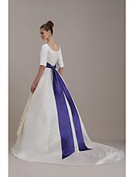 assoalho-comprimento de casamento / faixa de fita de noiva (fsd0243)