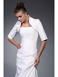 Wedding  Wraps Coats/Jackets Half-Sleeve Satin Ivory Wedding / Party/Evening High Neck T-shirt Open Front