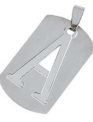 réduction de la pression en alliage de titane collier pendentif (lettre / assorties)
