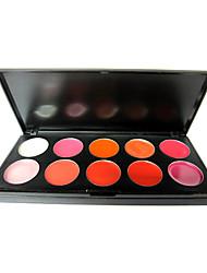 10 Farben Delikatesse Lippe-Palette - travel size (0119-4)