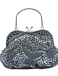 superbe sac à main de soirée en satin / embrayages / sacs poignée sur le dessus plus de couleurs disponibles