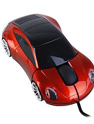sportwagen stijl usb optische muis met draad (kastanjebruin)
