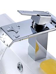 Стильный кран водопад, из нержавеющей стали, для ванной комнаты