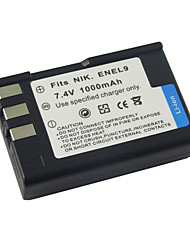 Replacement Digital Camera Battery EN-EL9 for Nikon D40X/Nikon D60(09370133)