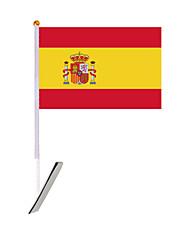 voiture drapeau durable Espagne polyester tricot national (szc5212)