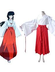 inuyasha traje cosplay Kikyo