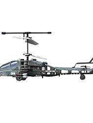 syma 3-Kanal-ch elektrische Apache bereit, Hubschrauber w / LED-Leuchten & Lipo Akku (S009) fliegen