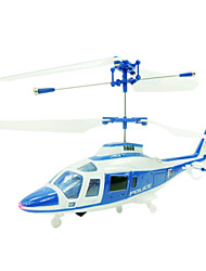 3CH RC Helicopter With Light Radio Remote Control Helicopters Indoor Toy(YX02675Bu)
