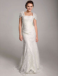 Lanting Bride® Trumpet / Mermaid Petite / Plus Sizes Wedding Dress - Classic & Timeless / Elegant & Luxurious See-Through Wedding Dresses