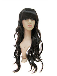 Capless Extra Long High Quality Synthetic Dark Coffee European Weave Hair Wigs 0988-CP8R-062A #6
