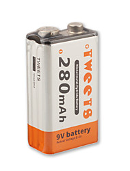 NEW 9V 280mAh 280 MAH Ni-MH PP3 Rechargeable Battery(NI-MH(9V280))