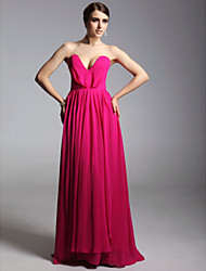 Prom / Formal Evening / Military Ball Dress - Open Back Plus Size / Petite Sheath / Column Strapless / V-neck Floor-length Chiffon with