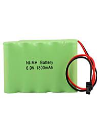 Ni-MH 6.0v 1800mah bateria recarregável (hb026)