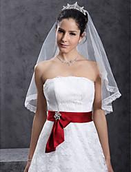 1 couche beau voile de mariée doigt
