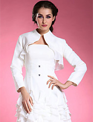 Longsleeves Chiffon Satin Bridal Jacket/ Wedding Wrap (52024)