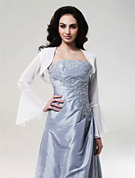 Long Sleeves Chiffon Bridal Jacket/ Wedding Wrap (0455-13)