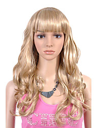 Capless Long High Quality Synthetic Golden Blonde Curly Hair Wig