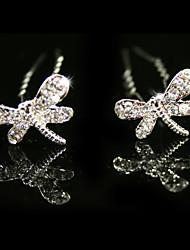 Pins de mariage strass / fleurs, 2 pièces