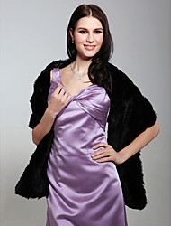 senza maniche finte nozze giacca di pelliccia da sposa / wrap (0.537-ws29005)
