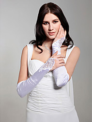Opera Length Fingerless/Shiny Glove Satin Bridal Gloves