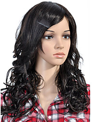 Capless Long High Quality Synthetic Black Curly Hair Wig