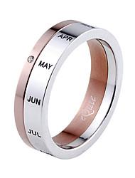 Man`s Titanium Steel Rotated Ring