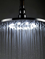 8 inch Brass Shower Head with Color Chaning LED Light
