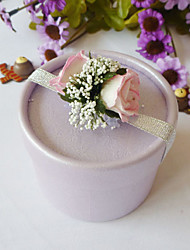 Round Favor Box With Flower (Set of 12)