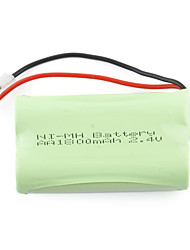 1800mAh 2.4V AA Ni-MH Rechargeable Battery Set (2-pack)