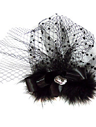 Women's Satin Tulle Headpiece-Wedding Special Occasion Fascinators