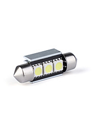 36mm 3 LED 5050 SMD Dome Map License Bulb Lamp Lights