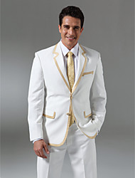 Custom Made Single Breasted Two-button  Notch Lapel Non-vented Groom Tuxedo