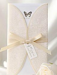 Номера для персонализированных Открытка-карман Свадебные приглашения Пригласительные билеты-50 Шт./наборСтаринный / Классический / С