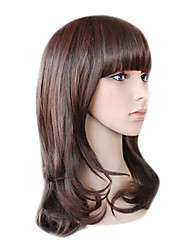 Capless Long Top Grade Quality Synthetic Chocolate Brown Curly Mini Hair Wig