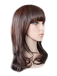 capless longa alto grau de qualidade sintético castanho chocolate peruca de cabelo crespo mini-