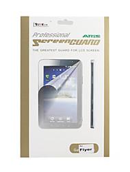 Kristall Display Schutzfolie / Beschützer w / Reinigungstuch für Android Tablet HTC Flyer