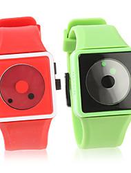 par de ver la moda de silicona pulsera (verde y rojo)