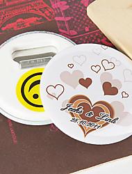 Personalized Bottle Opener/Fridge Magnet - Floating Hearts (set of 12)