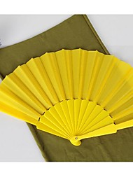 Yellow Silk Hand Fans (set of 6)