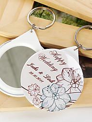 porta-chaves personalizado espelho - flores (conjunto de 12)