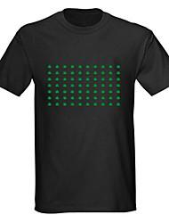 sonores et la musique activée Vu-mètre spectre Visualizer el conduit t-shirt (4 * AAA)