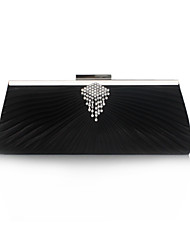 Evening Bag Black Silver Ruby Burgundy Ivory